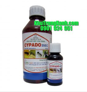 CYPADO 25EC thuốc phun xịt mọt , diệt mọt , diệt côn trùng an toàn , hiệu quả cao