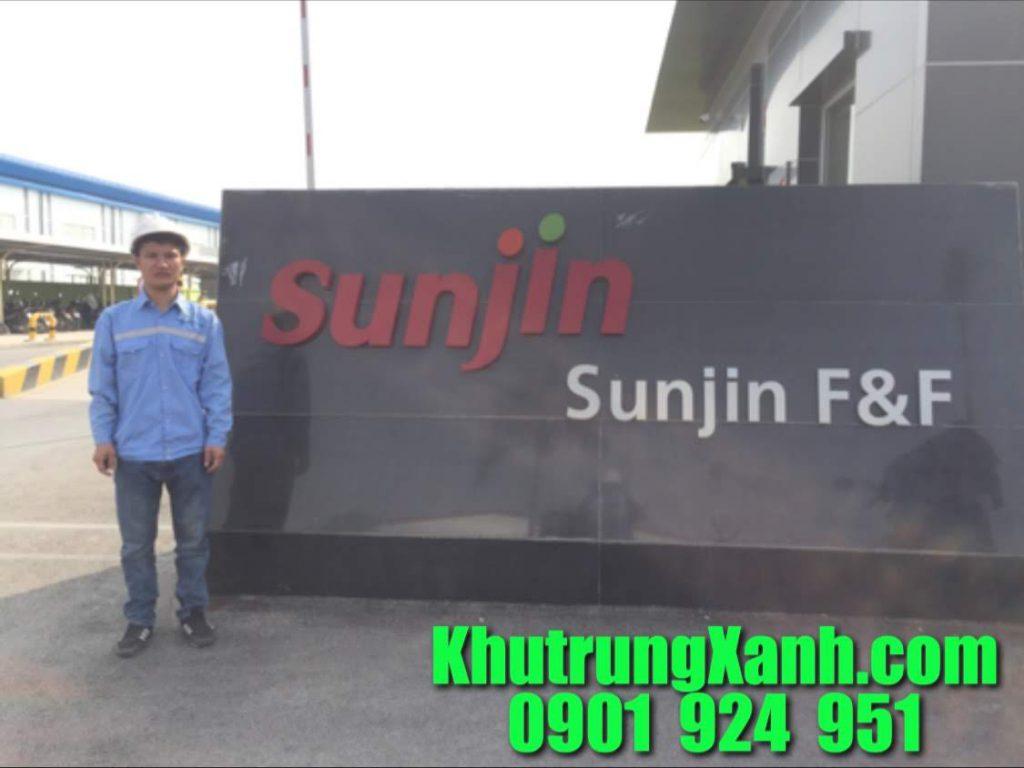 Phun sát trùng kho hàng  , nhà máy , công ty thức ăn chăn nuôi Sunjin Hà Nam