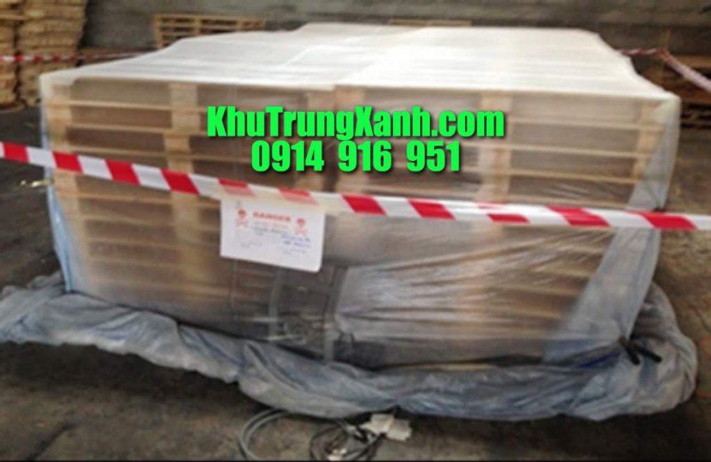 Khử trùng , hun trùng Pallet gỗ , vật liệu chèn bằng gỗ tại công ty Pallet Minh Tiếp