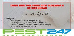 Công thức hướng dẫn cách pha thuốc khử trùng khử khuẩn Cloramin B