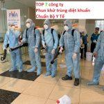 Danh sách TOP 7 công ty dịch vụ phun khử trùng chuẩn BỘ Y TẾ